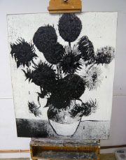 Via Negativa (Sunflower Painting No. 13)