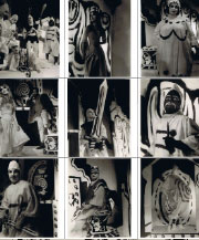 14 photographs of the UBU ROI performers in formal poses