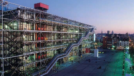 Centre Pompidou at night